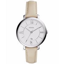 Reloj Fossil Es3793 Piel Blanco Original Dama Envío Gratis*