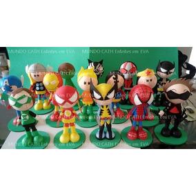 18 Enfeites Decoração Festa Vingadores Super Herois Herói 3d