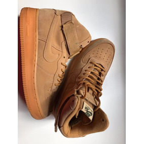 Nike Air Force One 1 High Flax Wheat Cafe Marron Talle 8us