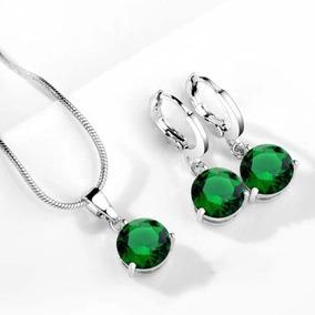 Set Collar Y Aretes De Plata Ley .925 Para Mujer Joya Regalo