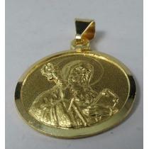Medalla San Benito Oro 18k Doble Faz Garantía Escrit Estuche