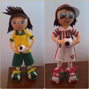 Jogador De Futebol Em Eva - Artesanato no Mercado Livre Brasil 5a5d88f9d6adc