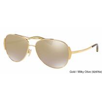 Lentes Gafas Coach Gold - Milky Olive Hc7067 92876e Original