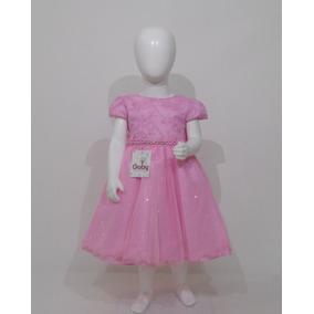 Vestido Infantil De Festa Luxo Princesa Rosa Promoção
