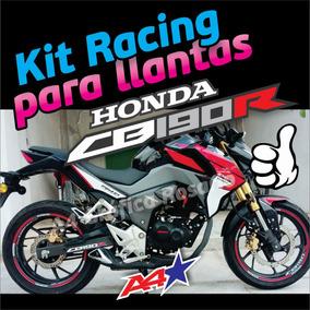 Honda Cb190r Calcos Para Llantas Kit Completo Para 2 Ruedas