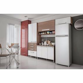 Montagem De Cozinha Compacta Bartira Carla Com 7 Portas