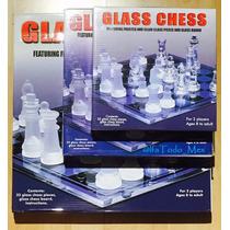 Ajedrez Cristal 26 X 26 Vidrio Cristal Juego De Mesa Mediano