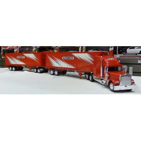 1:32 Freightliner Xl Full Caja Seca New Ray Doble Remolque