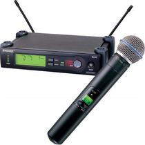 Microfone Shure Sem Fio Slx24 Beta 58 C/ Maleta 12x S/ Juros