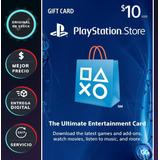 Playstation Network Psn Tarjeta Gift Card 10 Dólares Usa