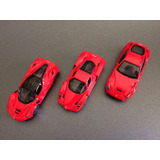 Burago Ferrari Set De 3 Autos Escala 1/64