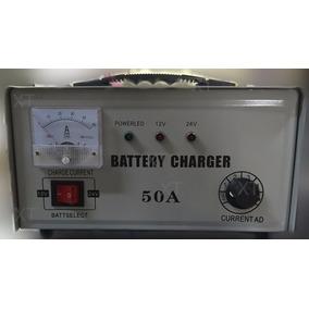 Carregador De Bateria 220v 12v/24 50amper Veiculo Carro
