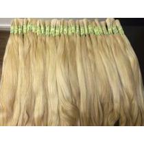Cabelo Humano Loiro Liso P/mega Hair 70cm 50gramas