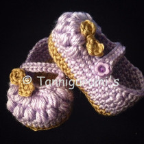 Zapatitos Tejidos Niña Crochet