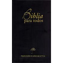 Biblia Mediana Traducción Lenguaje Actual Vinil Negro Tla