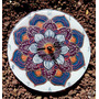 Reloj Mandala De Pared 25 Cm Vitrofusion Muchos Diseños