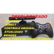 Xbox Perfeito+20 Jogos+ Kinect+controle+(desbloquead)