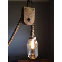 Pendente Luminária Corda Antiga Retro Vintage Filamento