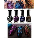 Nuevo Esmalte De Uñas De 4 Colores Kleancolor Glitter Colle
