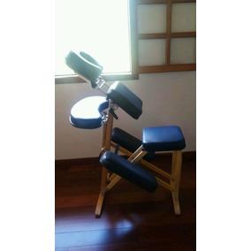 Cadeira De Shiatsu/quick Massage Madeira Da Beltex-semi Nova