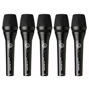 Kit C/ 5 Microfones Com Fio Akg Perception P3s