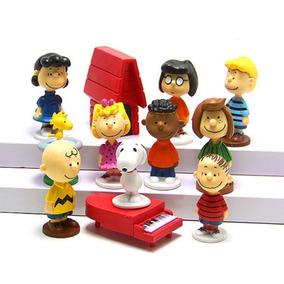 Kit 12 Bonecos Snoopy Charlie Brown Filme Snoopy Casa Piano