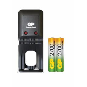 Cargador Gp Para Pilas Aa/aaa + 2 Baterias Aa 2700 Mah