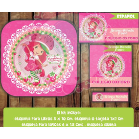Kit Imprimible Etiquetas Escolares Rosita Fresita