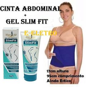 Gel Lipo Redutor Medidas Slim Fit +cinta Abdominal