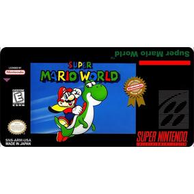 Label Super Mario World - Etiqueta Super Nintendo - Snes