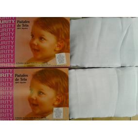 Pañales De Tela Marca Curity Blancos