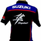 Camiseta Camisa Unisex Gola Polo Moto Susuki Gsx Hayabusa