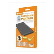 Carregador Portátil Power Bank  10.000mah Bateria Externa