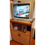 Tv Panasonic 29 Pulgadas + Rack Multiuso Con Puertas