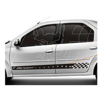 Kit Adesivo Faixa Lateral Renault Logan Acessórios Kit Sport
