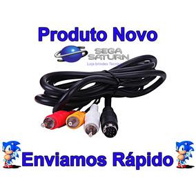 Cabo Av Audio E Video Sega Saturn Novo Pronta Entrega