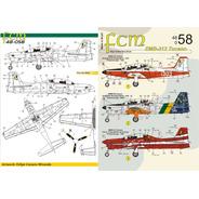 Decal Fcm Avião Emb 312 Tucano 1/48 Fcm48058 Plastimodelismo