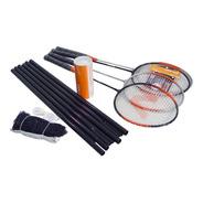 Kit Badminton Vollo Vszr004 Completo Com Rede Para 4 Pessoas