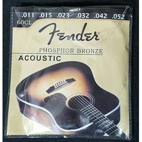 Set Cuerdas Metal Fender Guitarra Electroacústica Acústica.