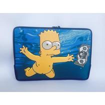 Capa Case P/ Notebook Simpson Bart Luva Personalizada 15