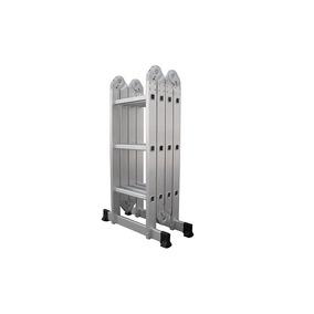 Escalera Plegable Multiposiciones Aluminio 3.8 M Con Charola