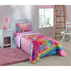 Edredom Barbie Solteiro 1,50mx2,00m Lepper
