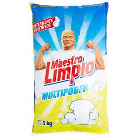Detergente En Polvo Maestro Limpio 5 Kgs. Envío Gratis!!
