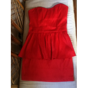 Vestido Corto Rojo Tipo Corset