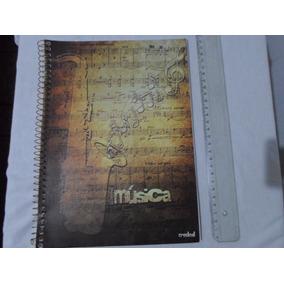 Raro Caderno De Musica Em Branco 100 Paginas Frete R$ 15,00