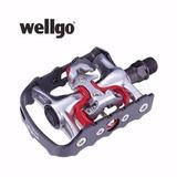 Pedal Wellgo Mtb M998 Clip E Plataforma Aluminio Preto Bike