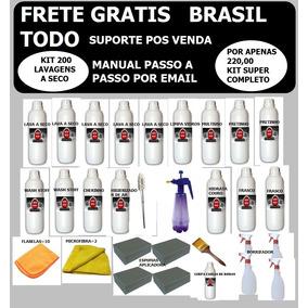 Lavagem A Seco Kit Auto Wash (200) +32 Panos De Microfibra