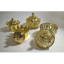 Kit 45 Dourado Especial Aniversario 1 Ano Princesa Principe