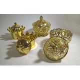 Kit 80 Dourado Especial Aniversario 1 Ano Princesa Principe