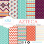 Kit Imprimible Azteca. Fiesta. Manualidades. Scrapbook.